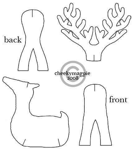 templates for wood cutouts 18 best 3d reindeer templates images on natal ideas and reindeer