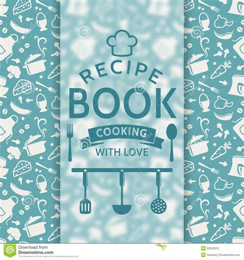 recipe book vector card stock vector illustration