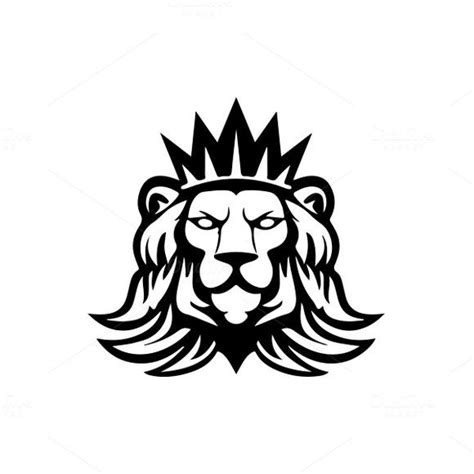 lion logo template  mustaart  atcreativemarket