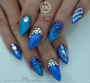Image of: Top 55 Stunning Blue Acrylic Nail Blue Nail Designs To Beauty Your Nails