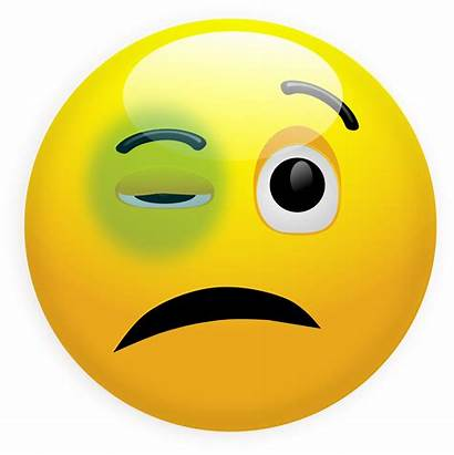 Smiley Eye Face Clip Emoji Faces Ouch