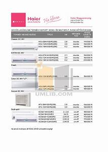 Download Free Pdf For Haier Au242ahbea Air Conditioner Manual