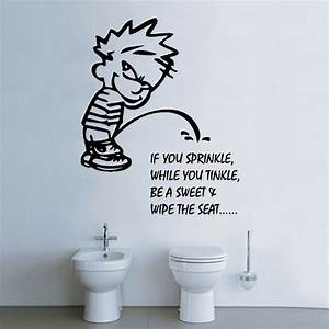 Bathroom decal wall stickers shop home for Wall art stickers for bathrooms