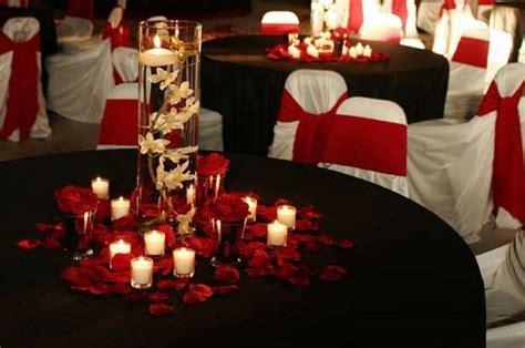 black red wedding centerpieces