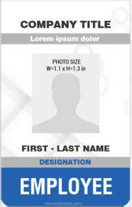 microsoft word id card templates