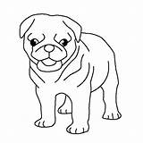 Pug Coloring Pages Puppy Cute Dog Puppies Pugs Printable Print Colorluna Visit Colouring Dogs Printables Getcolorings Getcoloringpages Drawing Adult sketch template