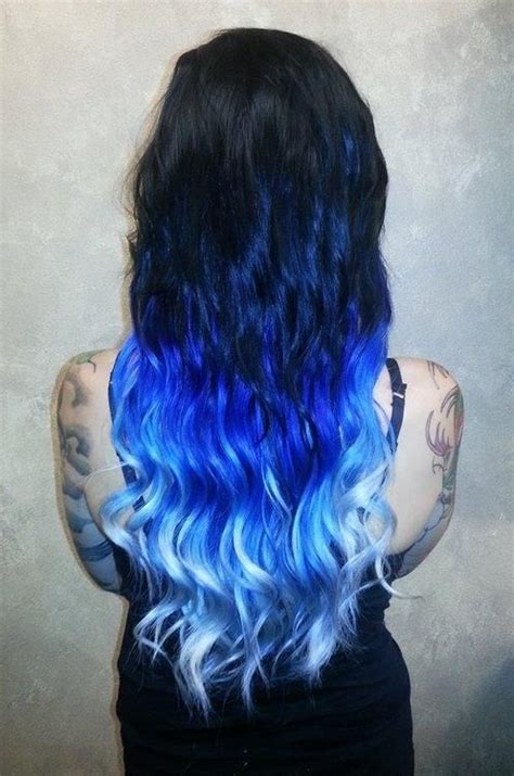 hair color dark to light black to light blue ombre crazy hair colors pinterest