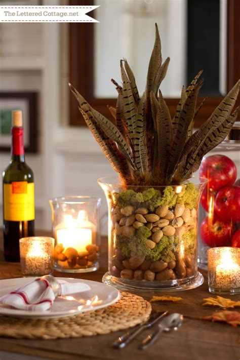 fall centerpieces nuts for this fall decor b lovely events