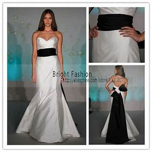 2015 white and black wedding dress sexy off shoulder With black dress for wedding reception
