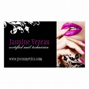 Nail technician business cards zazzle for Nail technician business cards