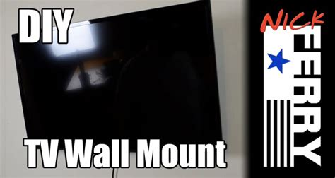 diy tv wall mount