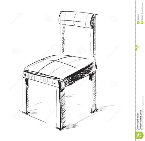 dessin chaise sketch chair icon royalty free stock photo image 33305955