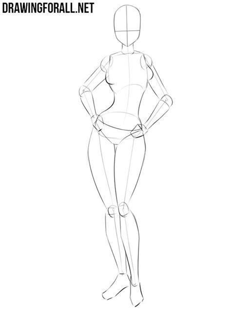 draw  anime girl body