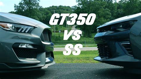 Gt350 Vs Camaro by 2016 Shelby Gt350 Vs 2016 Camaro Ss