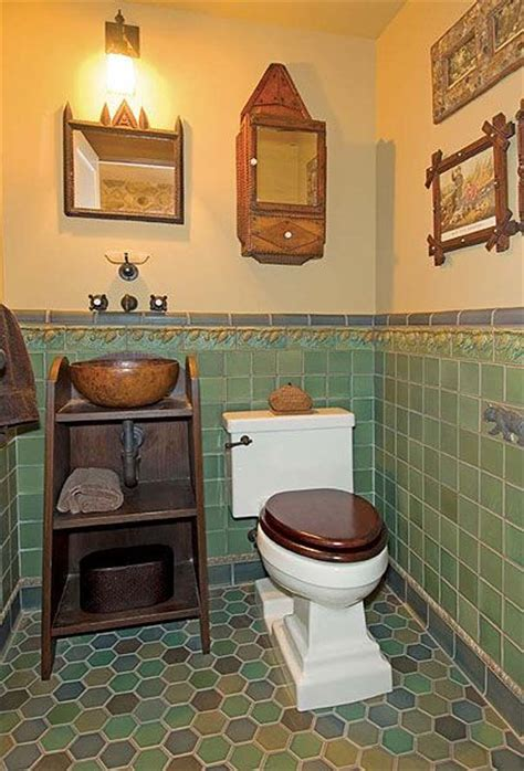 arts and crafts floor l inspired bathrooms toilets craftsman and the floor