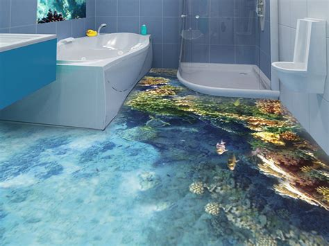 Epoxy Bathroom Tile by How To Get 3d Epoxy Flooring In Your Bathroom In Detail
