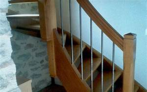 Escalier Metal Et Bois : rampe d escalier bois et m tal verni escaliers stella ~ Dailycaller-alerts.com Idées de Décoration