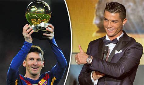 Cristiano Ronaldo Ballon d'Or Messi
