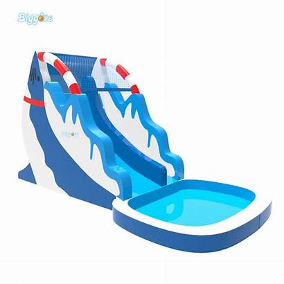 Slide Inflatable Water Pool Dolphin Giant Park