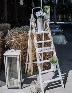 Echelle Decorative Blanche : d coration champ tre pour un mariage de r ve plus de 110 ~ Teatrodelosmanantiales.com Idées de Décoration