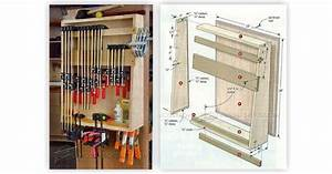 Small Clamp Storage Rack • WoodArchivist