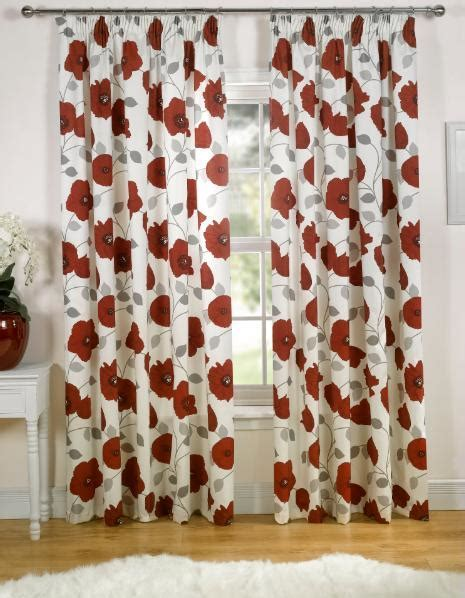 Poppy Red Floral Curtains 66 x 72 www.perfectlyboxed.com