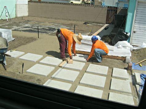 how to install 24 quot concrete pavers lynda makara