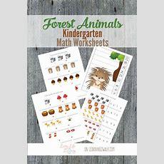 17 Best Images About Forest Animals Theme On Pinterest  Crafts, Kindergarten Math Worksheets