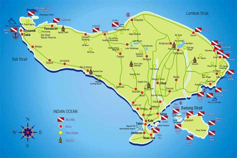 bali diving map ehomestay canggu bali