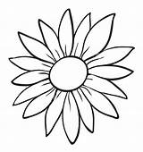 Sunflower Outline Flower Simple Drawing Drawings Flowers Clipart Easy Daisy Stencil Lotus Hibiscus Outlines Draw Template Silhouette Coloring Painting Tattoo sketch template