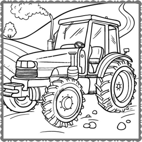 Tractor Kleurplaat by Tractor Kleurplaat Peuter Krijg Duizenden Kleurenfoto S