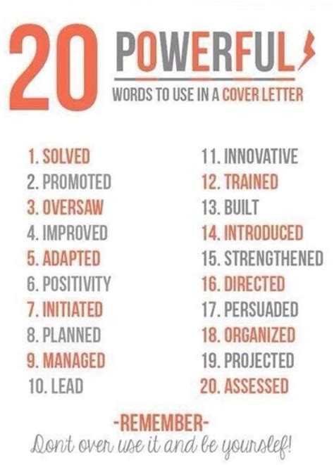 power words for a resume or cover leter 185 best rockin resumes cover letter images on