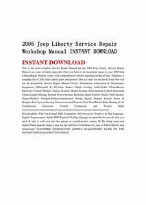 2005 Jeep Liberty Service Repair Workshop Manual Instant