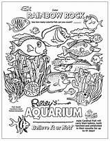 Coloring Pages Tank Aquarium Beach Printable Sheets Believe Ripleys Ocean Underwater Ripley Creatures Myrtle Rocks Knights Castles Motorcycle Kid Mermaid sketch template