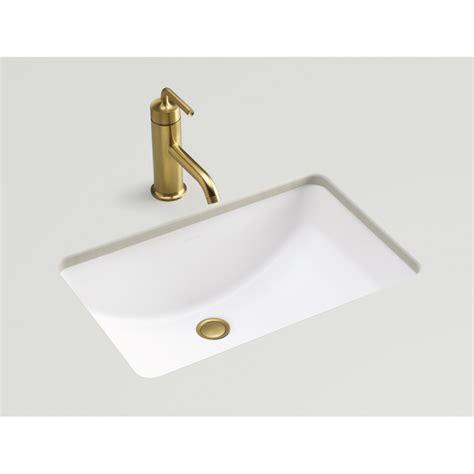 small rectangular undermount bathroom sink shop kohler ladena honed white undermount rectangular
