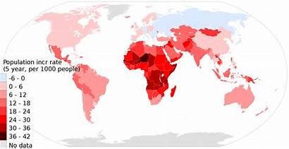 Population Map Increase Rate Clipart Country Humans