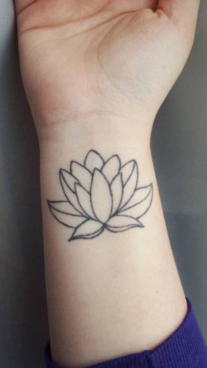 lotus flower tattoo  emilys  wrist grows