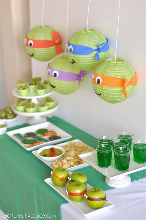 Ninja Turtle Decorations For Cakes by Tmnt Party Creative Juice