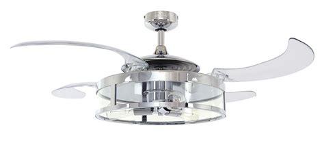 ceiling fan retractable blades retractable blade ceiling fan fanaway chrome