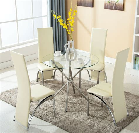 chairs  piece  glass dining table set kitchen room