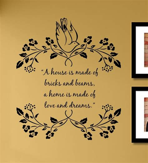 a house is made of bricks and beams a home is made of and dreams vinyl wall decal sticker