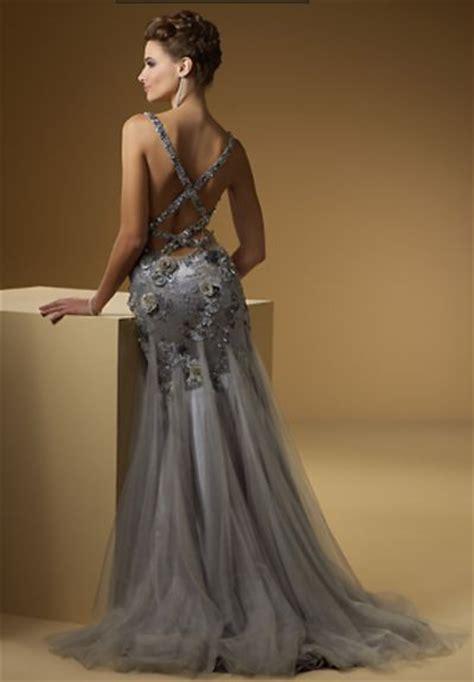 rina  montella  sexy beaded tulle formal dress