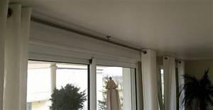 Barre Rideau Fixation Plafond : tringle rideau plafond ~ Premium-room.com Idées de Décoration