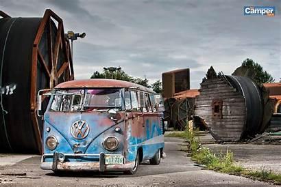 Vw Bus Camper Van Volkswagen Wallpapers Rusty