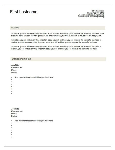 blank fill in resume templates 28 images best photos