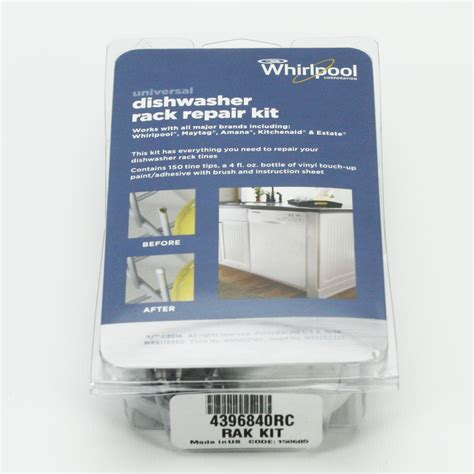 dishwasher rack repair 4396840rc whirlpool dishwasher tine tip rack repair kit ebay
