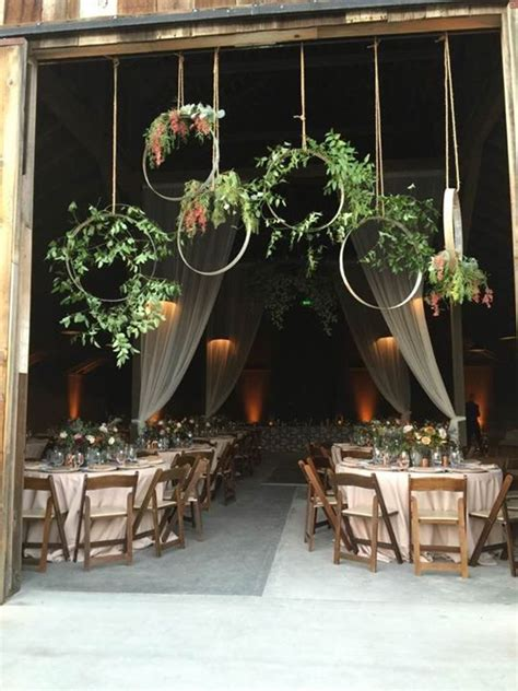 wine barrel floral hoops that our florist created for the