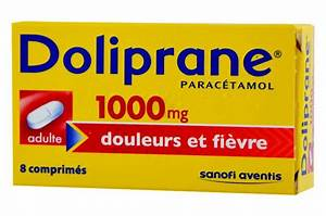 Doliprane Adultes 1000 Mg 8 Comprim U00e9s S U00e9cables