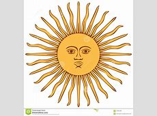 Sun of Argentina flag stock vector Illustration of