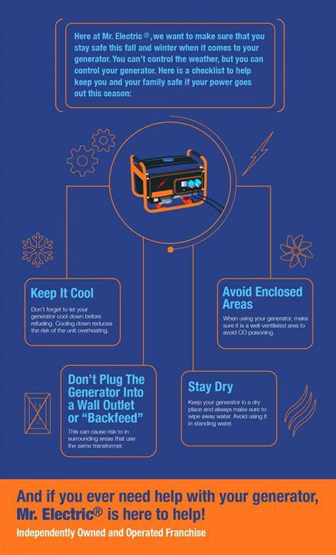 check   generator safety checklist infographic